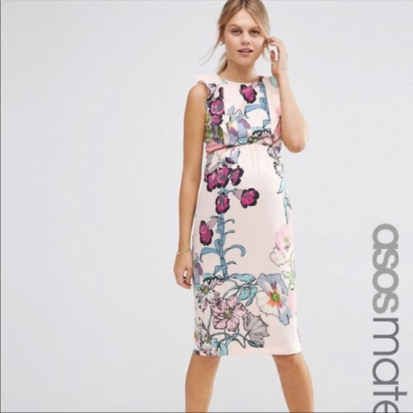 d8586bdf7db ASOS Maternity Dresses   Skirts - ASOS Maternity Wiggle Dress (blush floral)